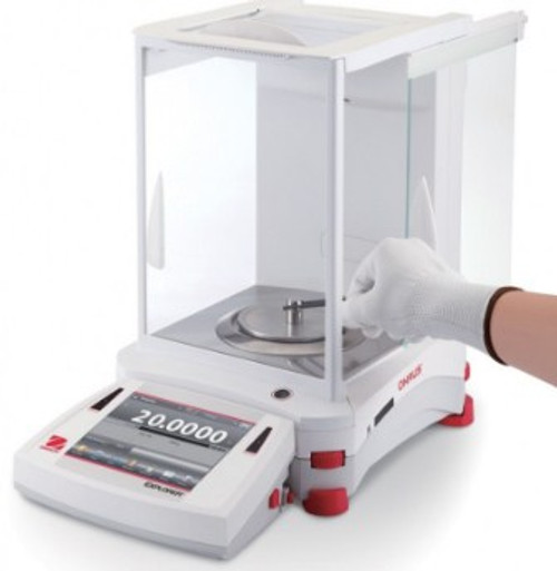 OH EX324 Ohaus Explorer Analytical Balance with a capacity of 320g.