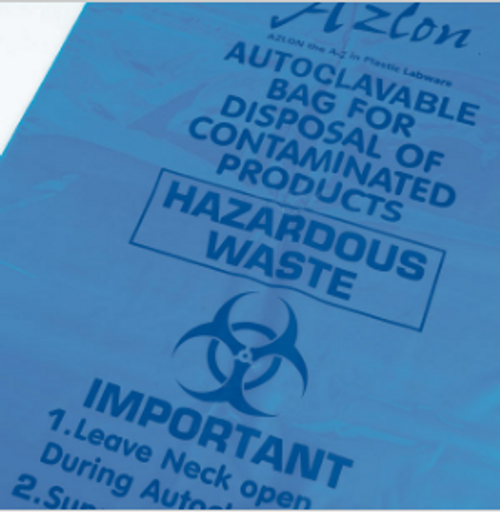 Autoclavable Bags, with Biohazard symbol