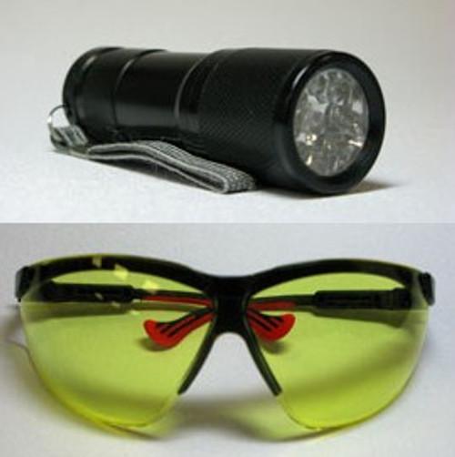 Zarbeco UV Flashlight with safety eyewear