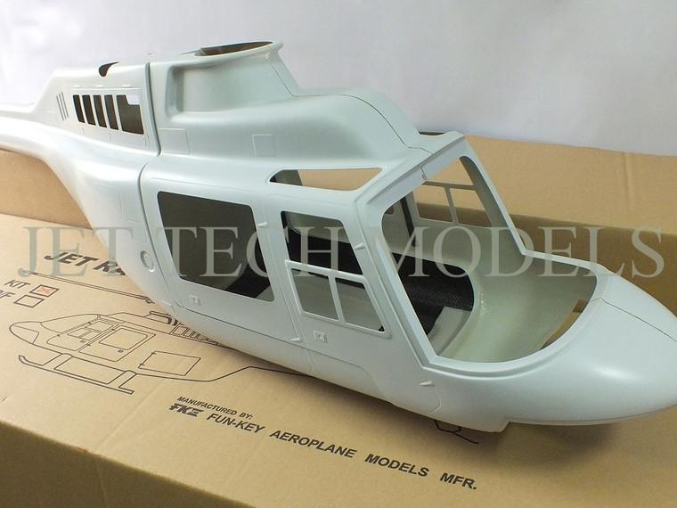 FUNKEY Scale Fuselage JET RANGER .60 (700) size Kit (Unpainted)