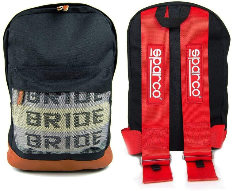 BACKPACK BRIDE WITH RED SPARCO