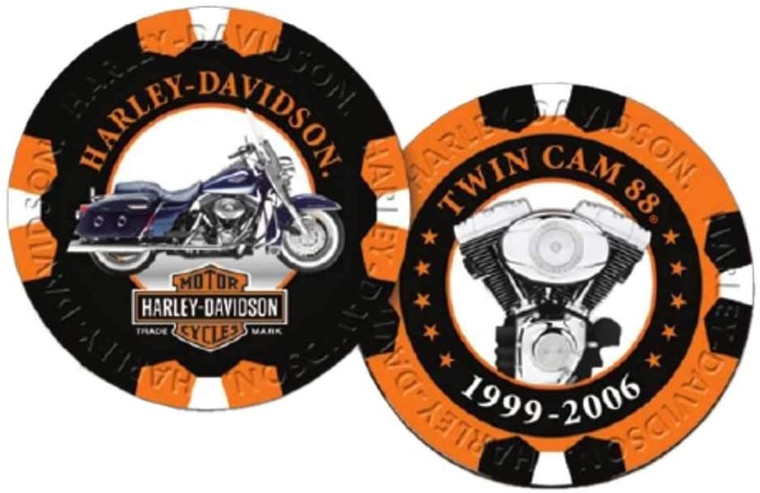 Harley-Davidson Limited Edition Series 8 Poker Chips - 2 Chips Included