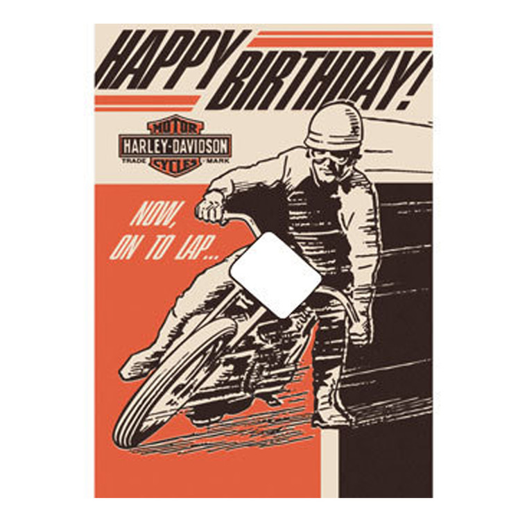 H-D™ ON TO LAP-BIRTHDAY CARD