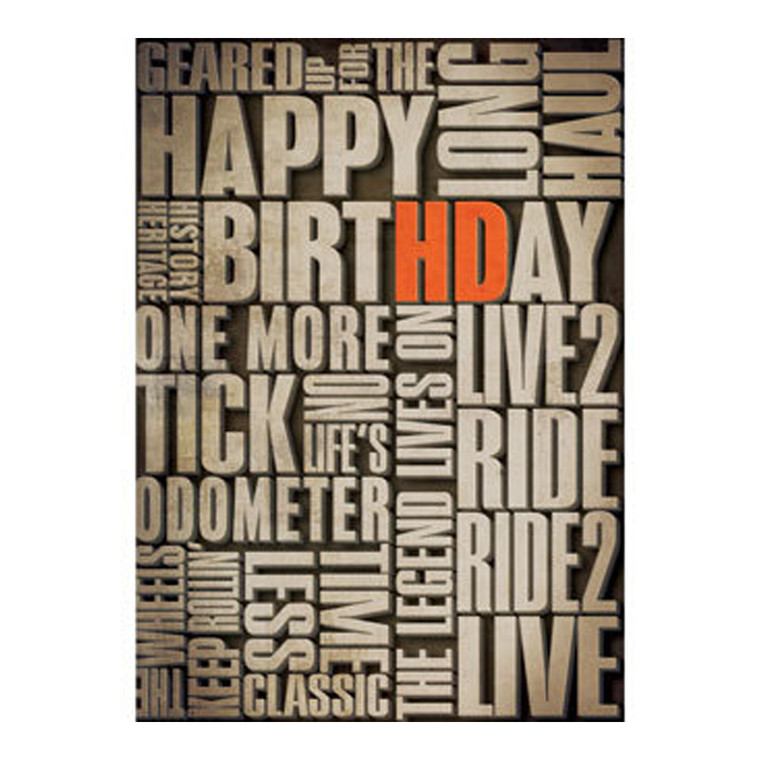 H-D™ VERBIAGE-BIRTHDAY CARD