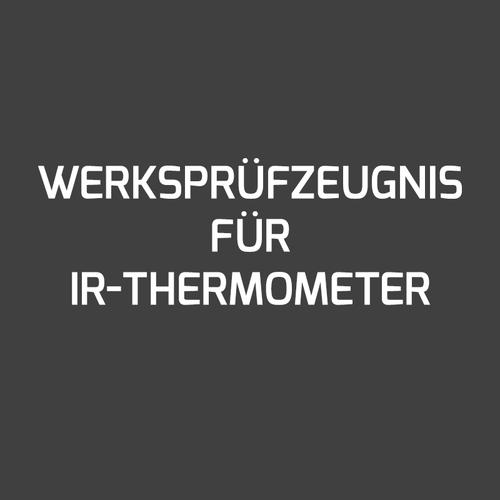 Werksprüfzeugnis für IR-Thermometer