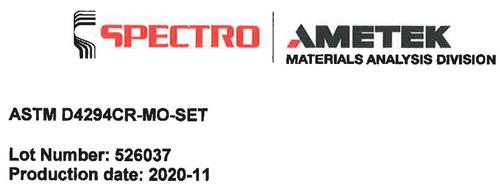 Kalibrierprobensatz (nach ASTM D4294) - 54480097