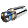 "Apexi N1 Style 2.5"" Inlet Exhaust Muffler - 4"" Burnt Blue Titanium Tip"