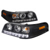 1998-2011 Ford Crown Victoria LED Projector Headlights (Matte Black Housing/Clear Lens)