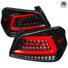2015-2019 Subaru WRX  Sequential LED Tail Lights (Jet Black Housing/Clear Lens)