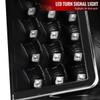 2014-2021 Toyota Tundra LED C-Bar Projector Headlights w/ LED Turn Signal Lights (Matte Black Housing/Clear lens))