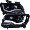 2015-2020 Chevrolet Colorado Projector Headlights w/ LED DRL & Amber Reflectors (Glossy Black Housing/Smoke Lens)