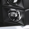 2009-2019 Dodge RAM 1500/2500/3500 Projector Headlights w/ LED Tube & H1 Bulbs (Matte Black Housing/Clear Lens)