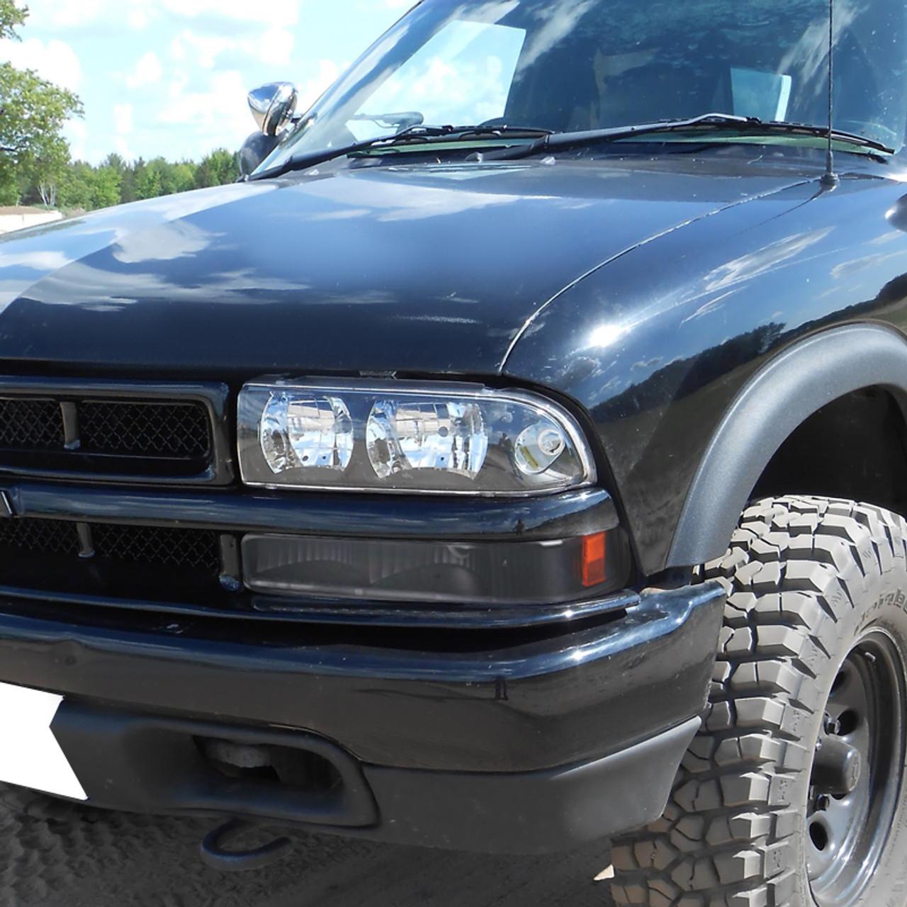 1998 2004 Chevrolet S10 Gmc Sonoma Bumper Lights Matte Black Housing Clear Lens K2 Motor