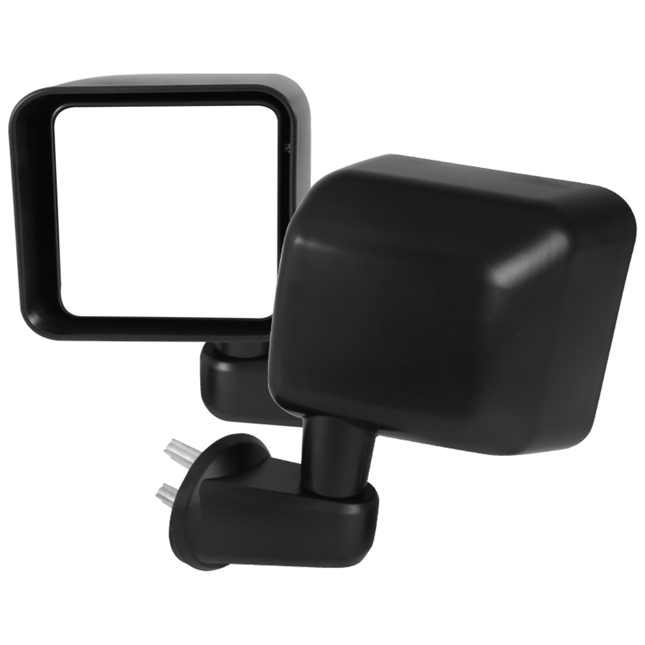2007-2018 Jeep Wrangler Black Side View Door Mirrors Manual Replacement PAIR