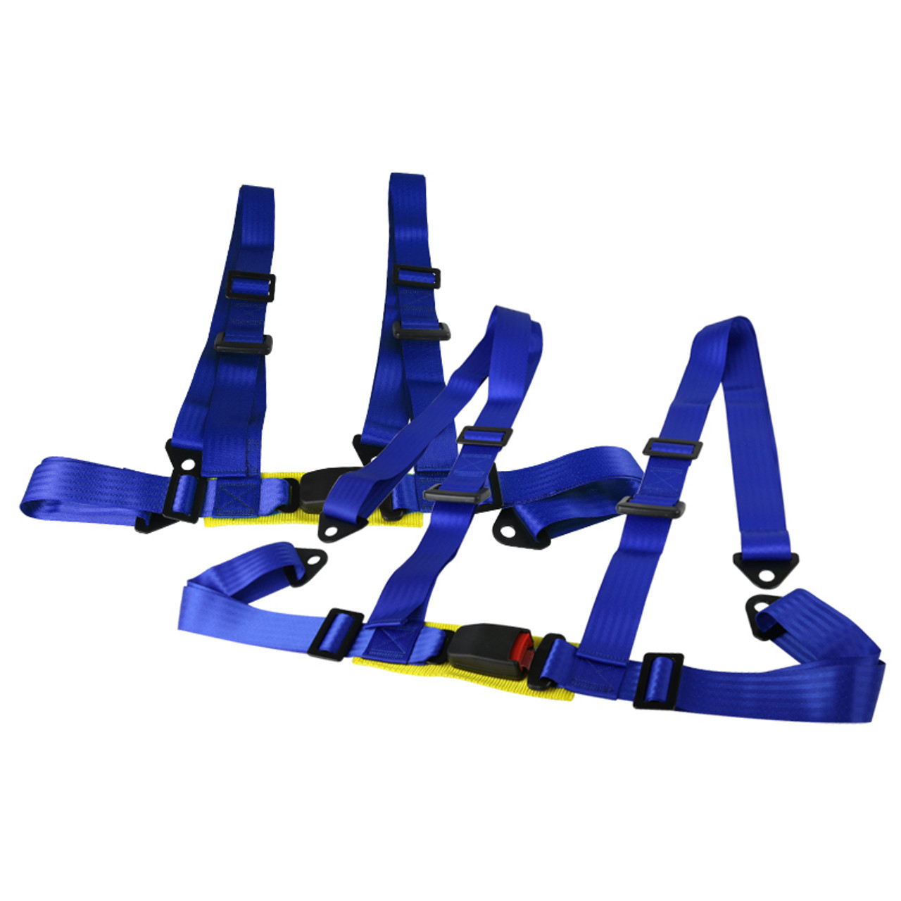 Pack of 1 RASTP 4 Point Racing Safety Harness Set with 2 Straps for Racing Seat with SFI Certified,Blue