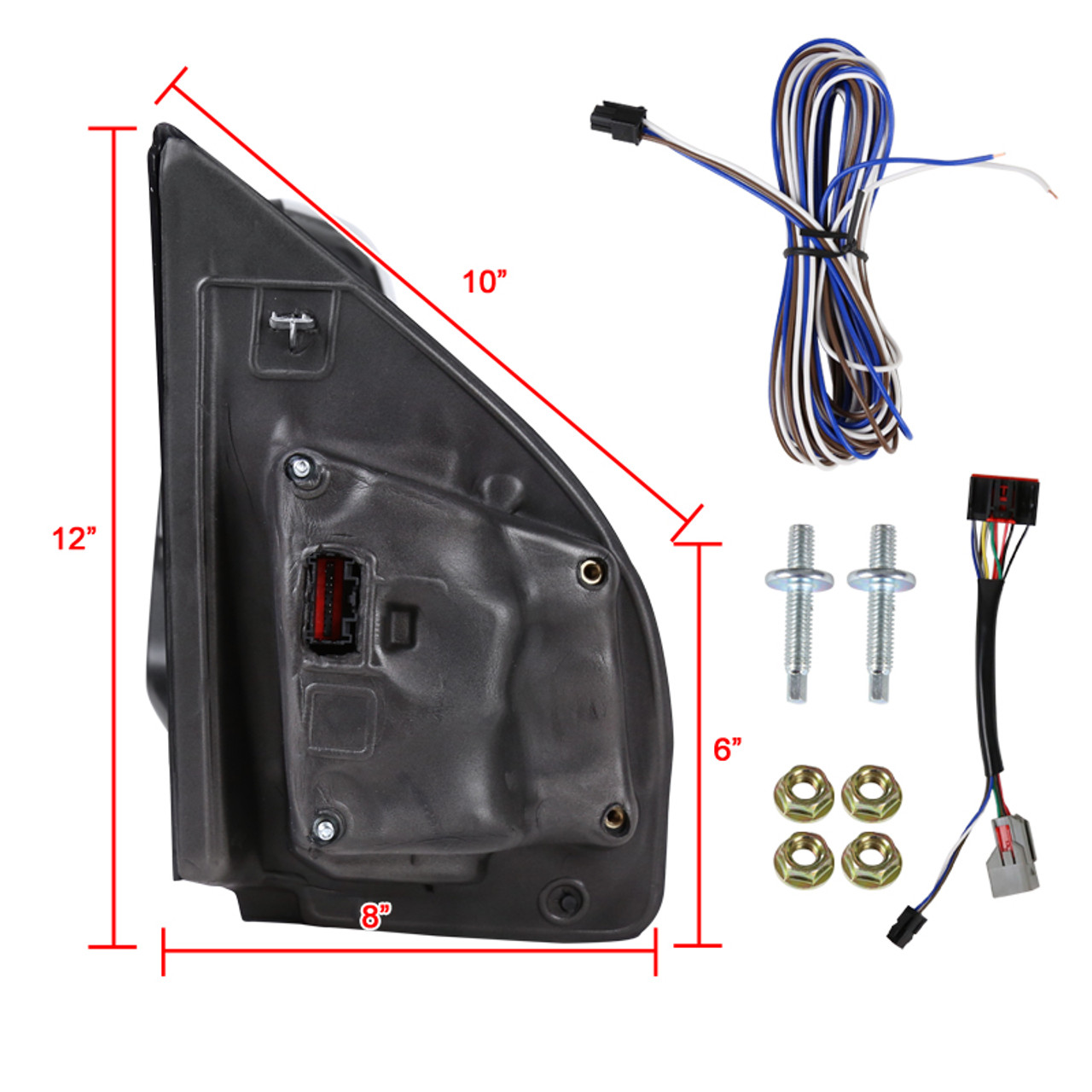 2x Conversion Harness Adapter Wiring Connector 8 pin to 22 pin Tow Mirrors For 2015 2016 2017 2018 Ford F150