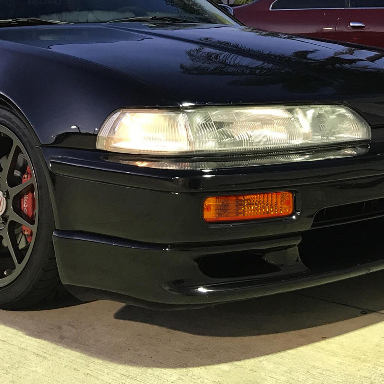 1990 1991 Acura Integra Bumper Lights Chrome Housing Amber Lens K2 Motor