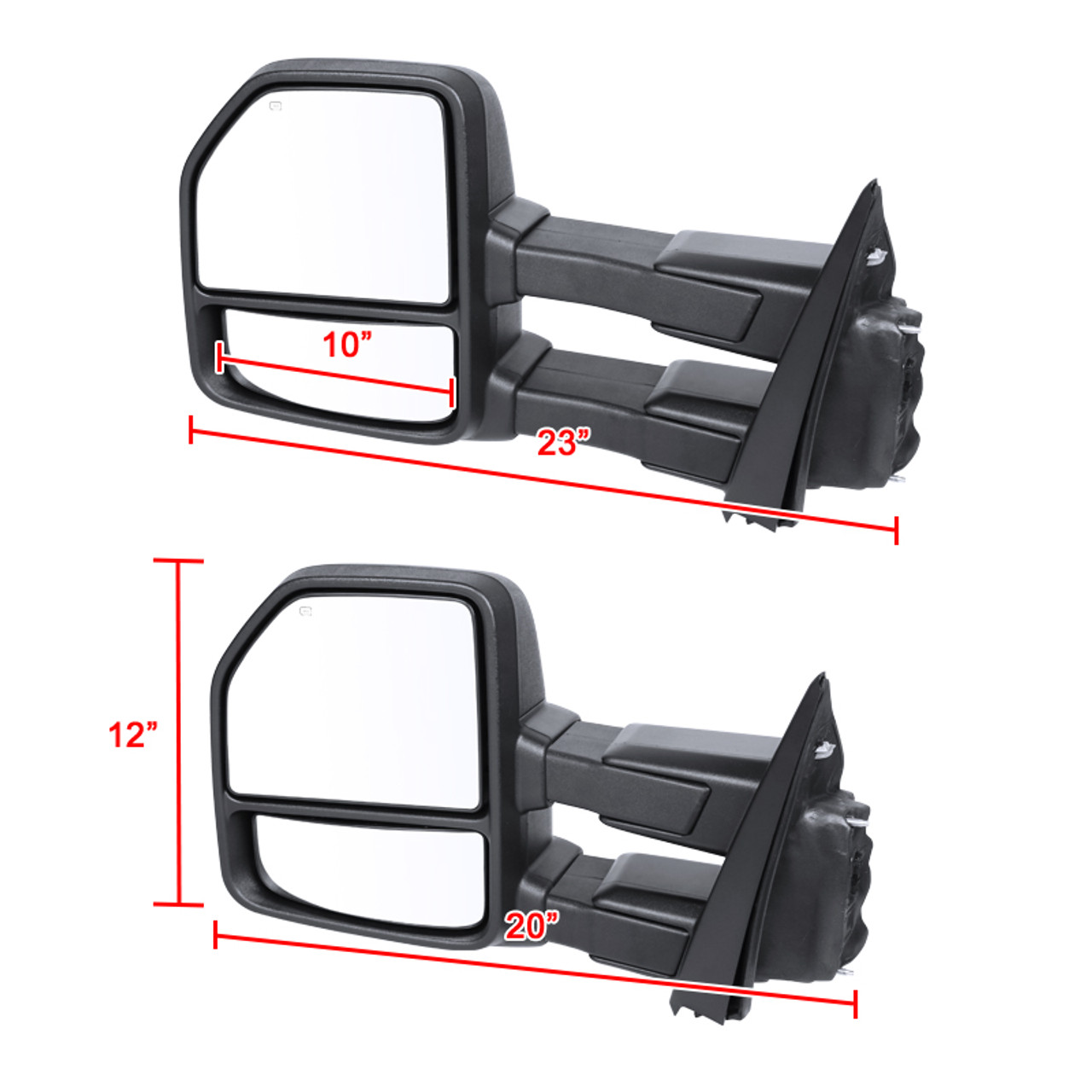 2015 2018 Ford F 150 Power Heated 8 Pin 22 Pin Towing Side Mirrors W Smoke Led Turn Signals Lamps K2 Motor