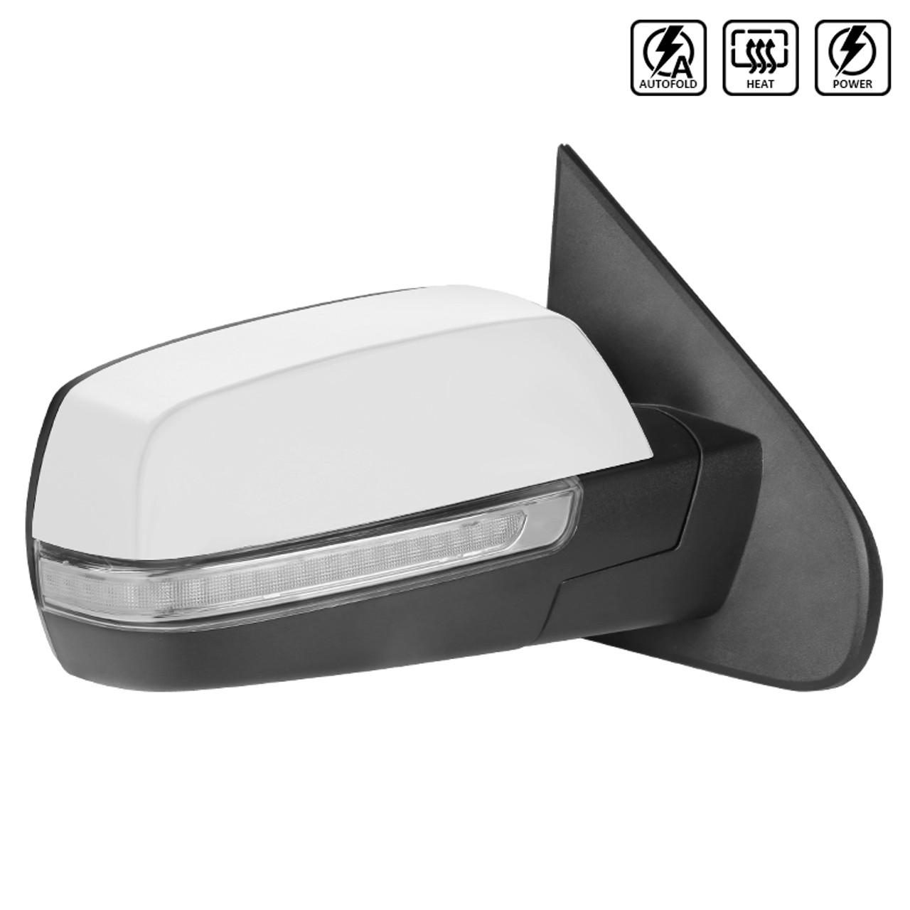 For 2014-2018 Chevrolet Silverado Glossy Black 2pcs Mirror Cap Covers Tape On
