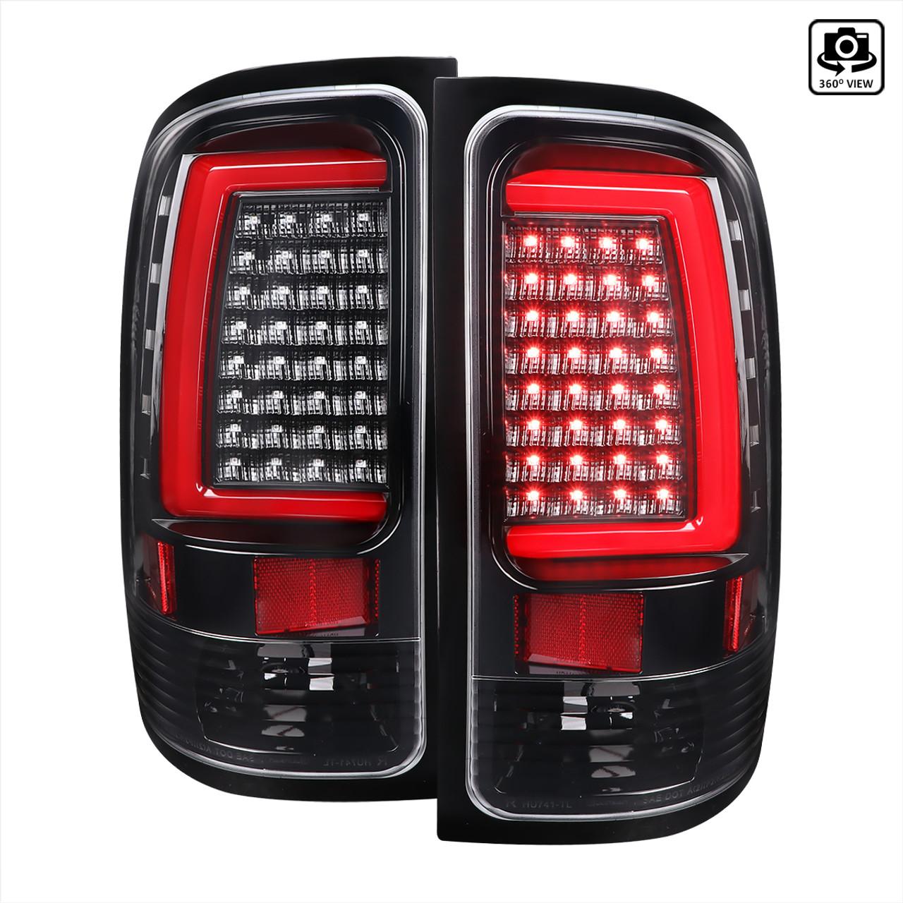For 2007-2013 GMC Sierra 2500HD 3500HD Chrome Housing Clear Lens LED Tail Lights