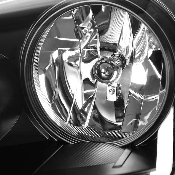 2005-2007 Honda Odyssey Factory Style Crystal Headlights w/ 9006 Bulbs (Matte Black Housing/Clear Lens)
