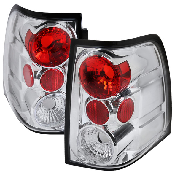 2003-2006 Ford Expedition Tail Lights (Chrome Housing/Clear Lens)