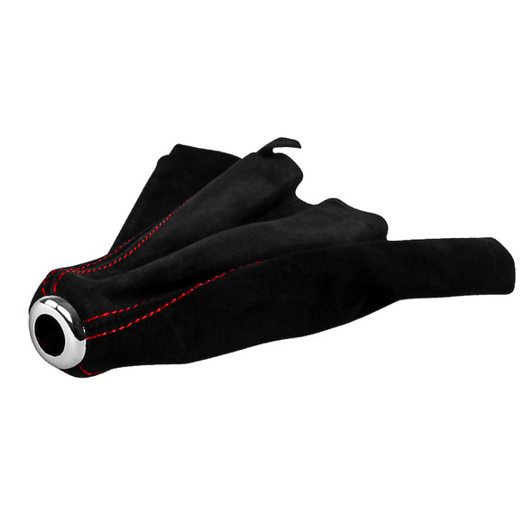 Universal Suede JDM Manual Shift Boot (Red)