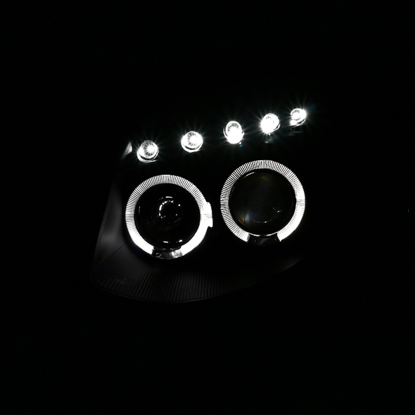 2003-2007 Infiniti G35 Dual Halo Projector Headlights (Matte Black Housing/Clear Lens)