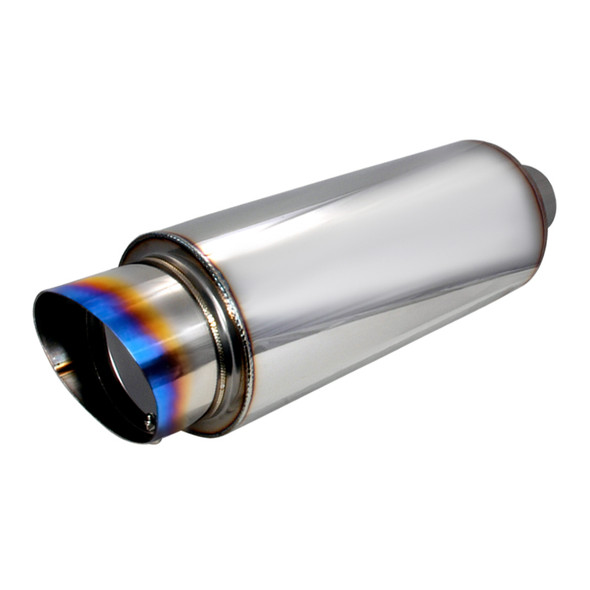 Universal Fireball-Style Burnt Tip Stainless Steel Exhaust Muffler