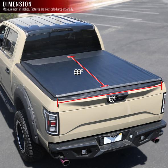 "2015-2019 Chevrolet GMC Silverado/Sierra 1500/2500/3500 Crew & Standard 96"" Bed Vinyl Tonneau Cover"
