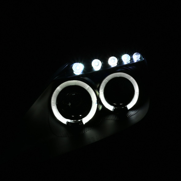2000-2005 Toyota Celica Dual Halo Projector Headlights (Matte Black Housing/Clear Lens)