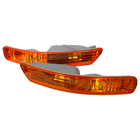 1998-2001 Acura Integra Bumper Lights (Chrome Housing/Amber Lens)