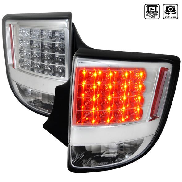 2000-2005 Toyota Celica LED Tail Lights (Chrome Housing/Clear Lens)