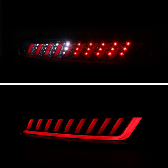 2016-2018 Chevrolet Camaro LED Tail Lights w/ Sequential LED Turn Signal (Matte Black Housing/Clear Lens)