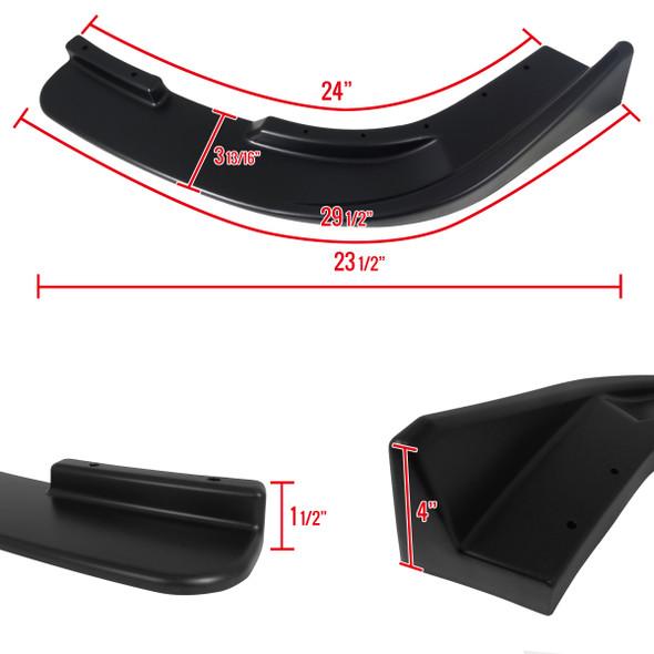 Universal Front Lip Splitters (Polypropylene Black)