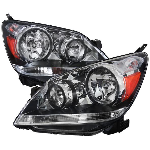 2005-2007 Honda Odyssey Factory Style Crystal Headlights w/ 9006 Bulbs (Chrome Housing/Clear Lens)