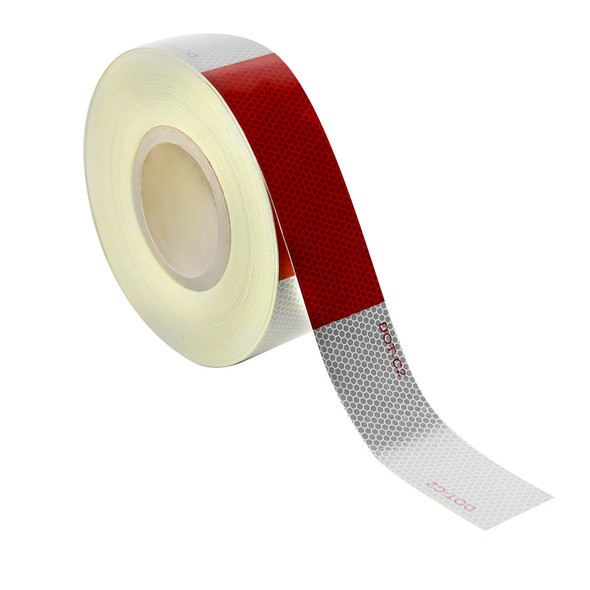 "2"" Wide Red/White DOT-C2 Approved Conspicuity Reflective Safety Tape (164 FT)"