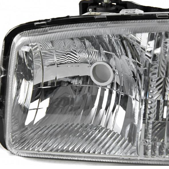 1999-2006 GMC Sierra/Yukon/Yukon XL Factory Style Crystal Headlights w/ Bumper Lights (Chrome Housing/Clear Lens)