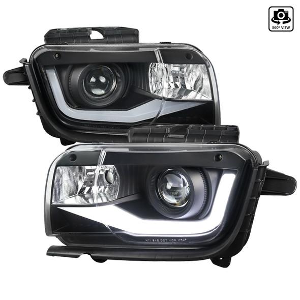 2010-2013 Chevrolet Camaro Projector Headlights w/ LED DRL & H11 Bulbs (Matte Black Housing/Clear Lens)