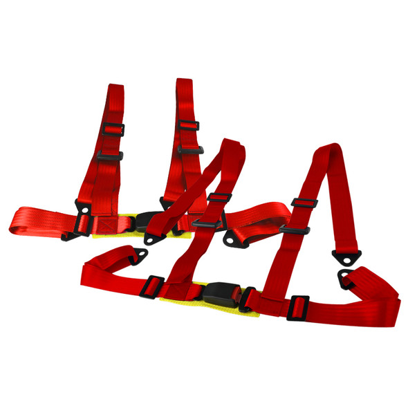 2X4 Point Racing Seat Belt Harness (Red)