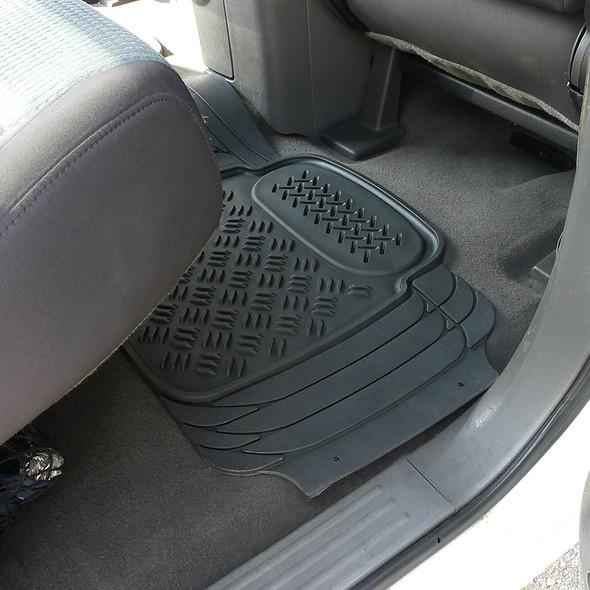 3PC 3D Print Floor Mats (Black)
