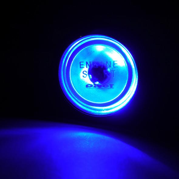 Universal 12v LED Engine Start Buttom (Blue)