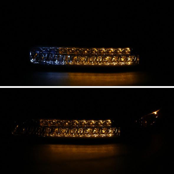 1999-2002 Chevrolet Silverado / 2000-2006 Chevrolet Tahoe & Suburban LED Bumper Lights (Chrome Housing/Smoke Lens)