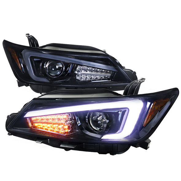 2011-2013 Scion tC Dual Halo Projector Headlights w/ LED Light Bar