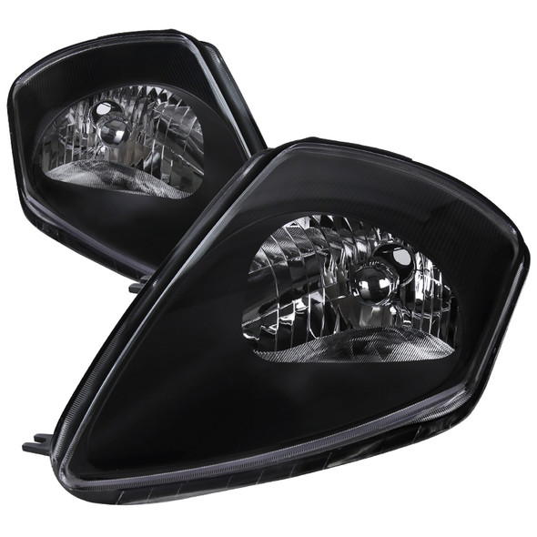 2000-2005 Mitsubishi Eclipse Factory Style Crystal Headlights (Matte Black Housing/Clear Lens)