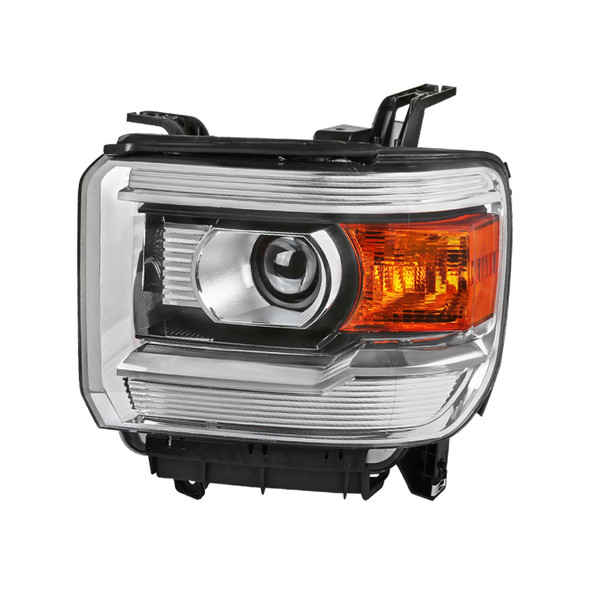 2015-2019 GMC Sierra 1500 2500 3500 HD Factory Style Projector Headlights Left/Driver Side (Chrome Housing/Clear Lens)
