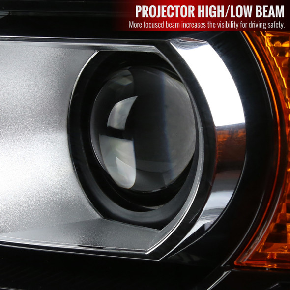 2014-2019 GMC Sierra 1500 2500 3500 HD Factory Style Projector Headlights Left/Driver Side (Chrome Housing/Clear Lens)