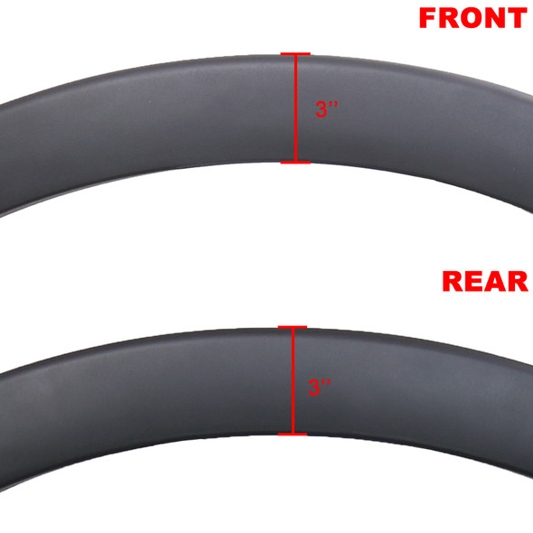 2004-2008 Ford F-150 Flareside Smooth Factory OE Style Fender Flares