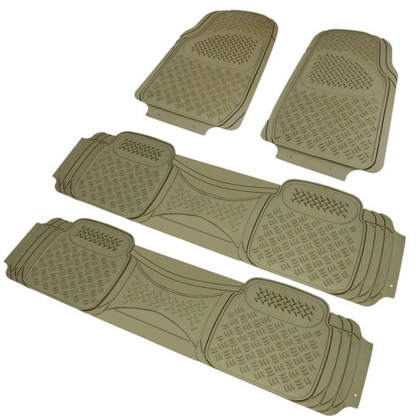 4PC 3D Print Floor Mats (Beige)