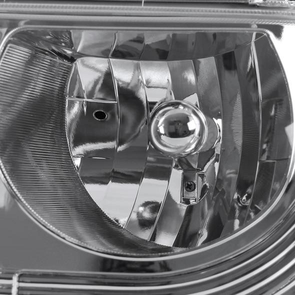 1999-2002 Chevrolet Silverado 1 Piece Style Headlights (Chrome Housing/Clear Lens)